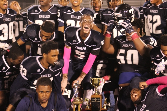 It did not come easy, but the expression on Senior Aaron Parker's face says it all. The City trophy is back home.
